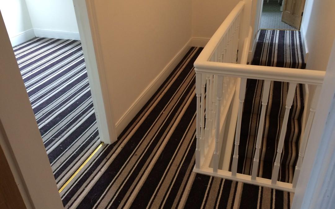 Striped carpet – Brislington, Bristol.